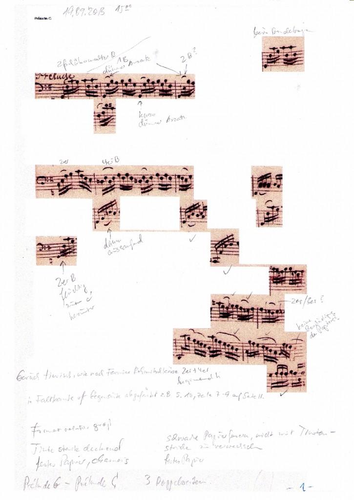 AMB Notizen zur Originalabschrift S 1 -