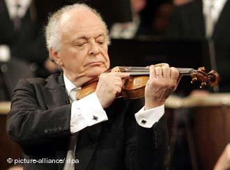 Lorin Maazel an Geige