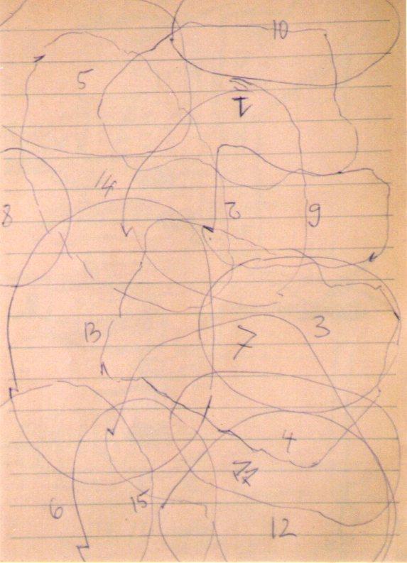 Skizze Ryoanji Schablonen 1992 07 19 Ausschnitt